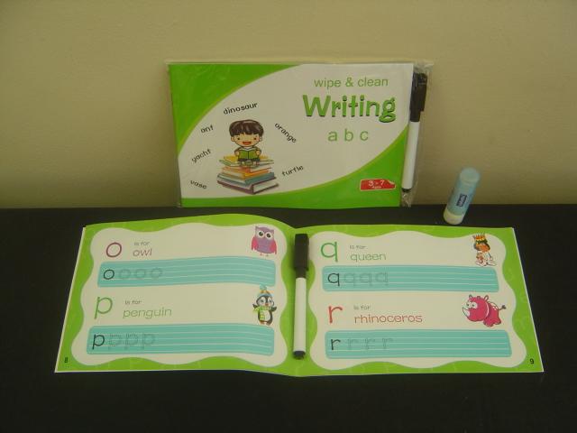 Wipe & Clean Wrting a b c.