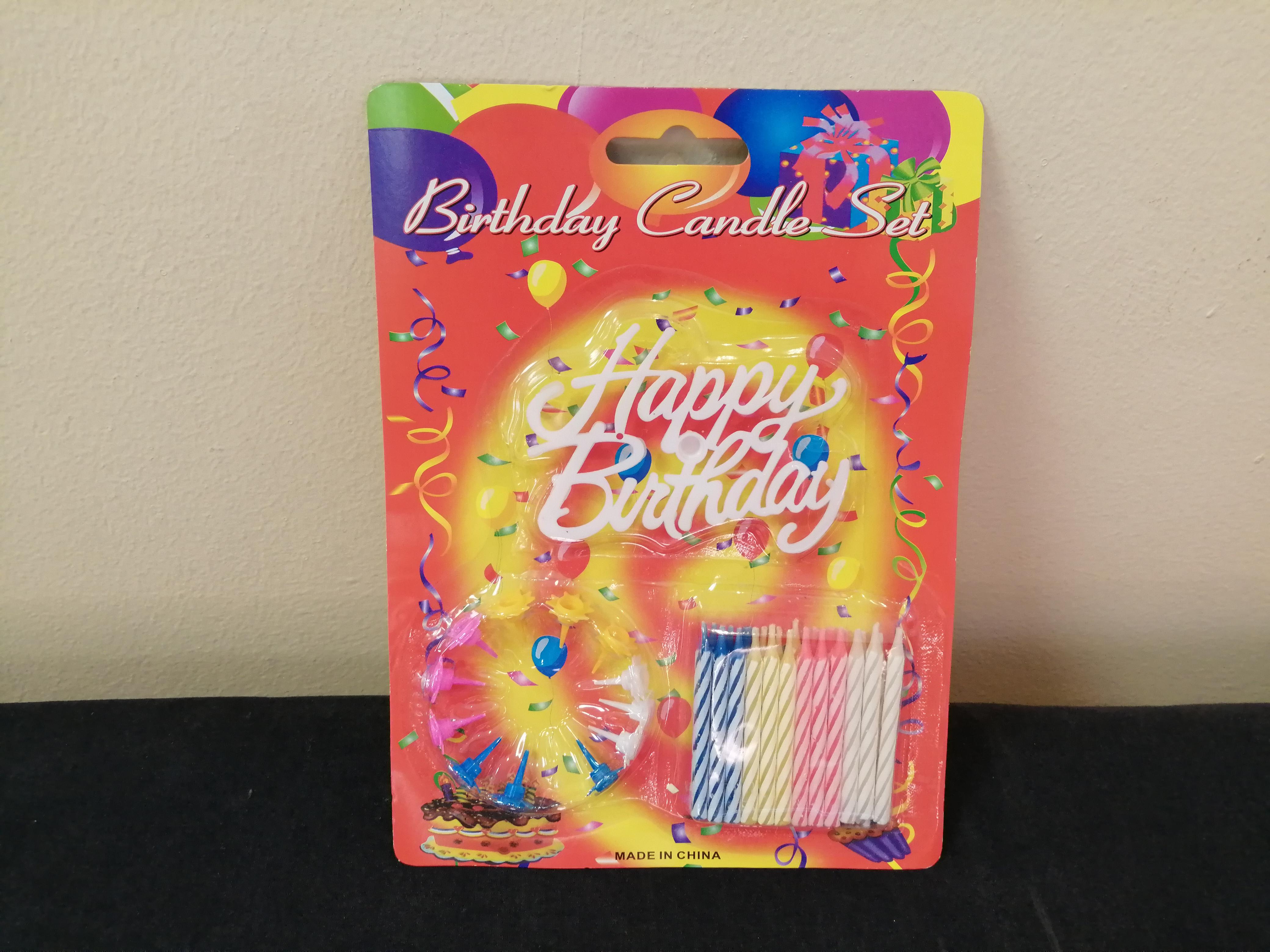 Birthday Candle Set with Mercury Toys